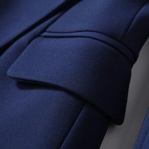 Image 4 - عالية الجودة موضة جديدة 2020 مصمم سترة المرأة أزرار الذهب مزدوجة الصدر السترة ملابس خارجية حجم S XXXL
