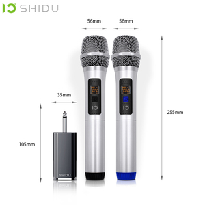 Image 3 - SHIDU 무선 마이크 핸드 헬드 UHF 다이나믹 무지 향성 휴대용 음성 증폭기 6.5mm 플러그 수신기 U20