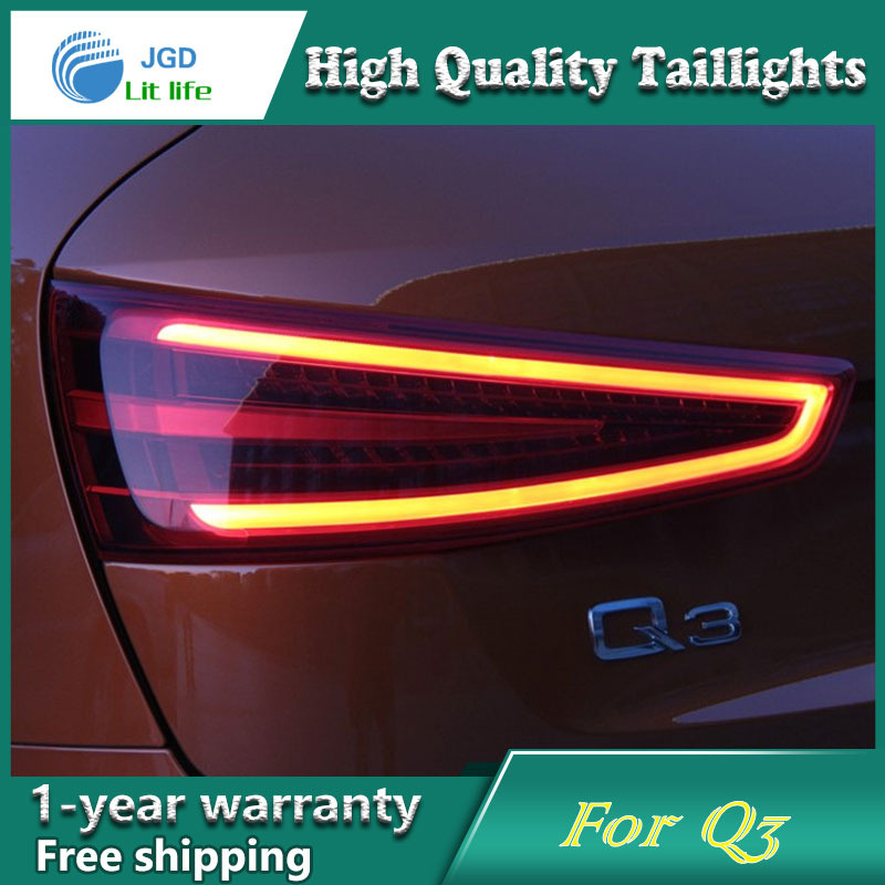 Car Styling Tail Lamp case for Audi Q3 Tail Lights LED Tail Light Rear Lamp LED DRL+Brake+Park+Signal Stop Lamp en car styling for toyota highlander tail lights 2015 2016 led tail light type rear lamp drl brake park signal light