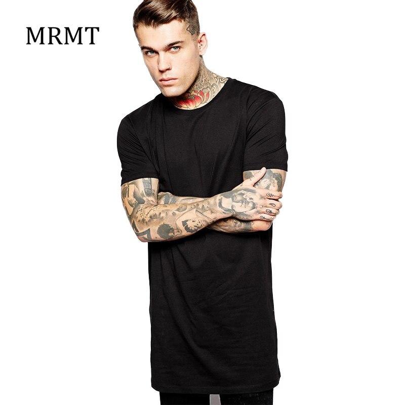 3c0f9be417eb 2018 Brand New Clothing Mens Black Long t shirt Men Tops Hip hop tee T  shirt Men Hiphop Short Sleeve Longline casual Tee shirts-in T-Shirts from  Men s …