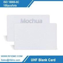 860MHz 960MHz UHF boş kart 18000 6C & EPC Gen2 RFID UHF kart 100 adet/grup
