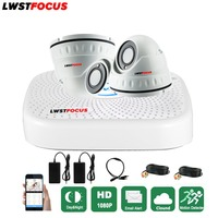 LWSTFOCUS 2CH CCTV System 4CH Mini DVR For CCTV Kit FREEIP 3000TVL 1080P IR Bullet Outdoor