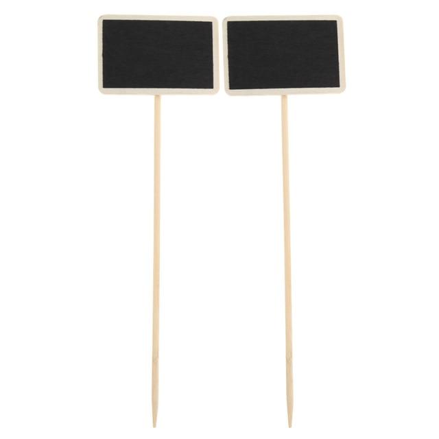 10pcs Retangle Chalkboard Wedding Wood Mini Blackboard Stand Tag Wood Mini Chalkboard Standing Wooden Wedding Table Decoration