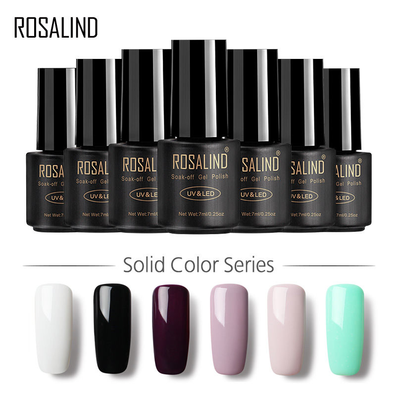 ROSALIND Gel 1 Nail Polish 7ml in 58 Colors