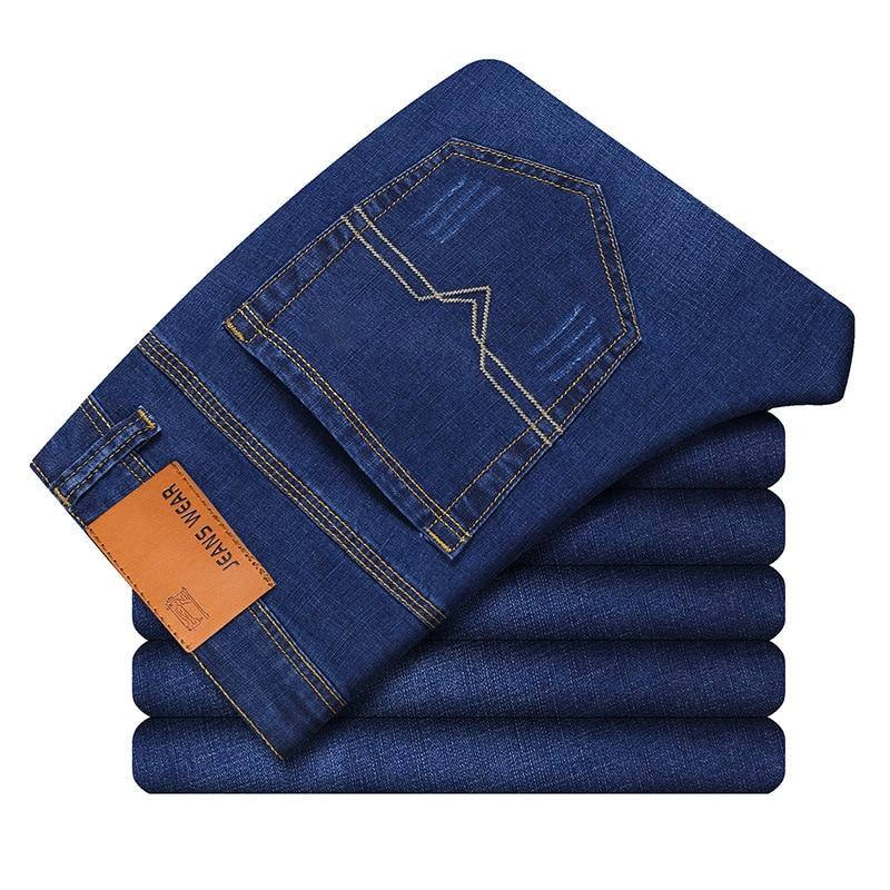 2019 New Cotton Denim Slim Denim Jeans Men Straight Fit Classic Jeans Men High Quality Trousers Soft Mens Pants