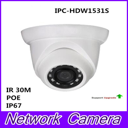 Free Shipping Brand Security IP Camera 5MP WDR IR Eyeball Network Camera With POE IP67 without Logo IPC-HDW1531S цена 2017