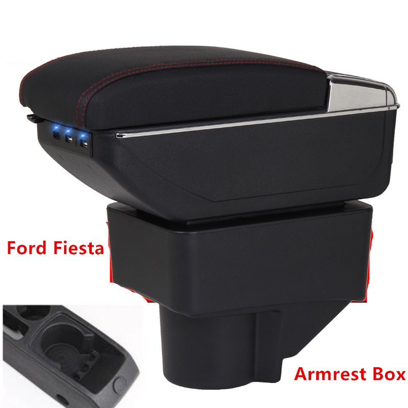 For Ford Fiesta Armrest Box Ford Fiesta Universal Car Central Armrest Storage Box cup holder ashtray modification accessories For Ford Fiesta Armrest Box Ford Fiesta Universal Car Central Armrest Storage Box cup holder ashtray modification accessories
