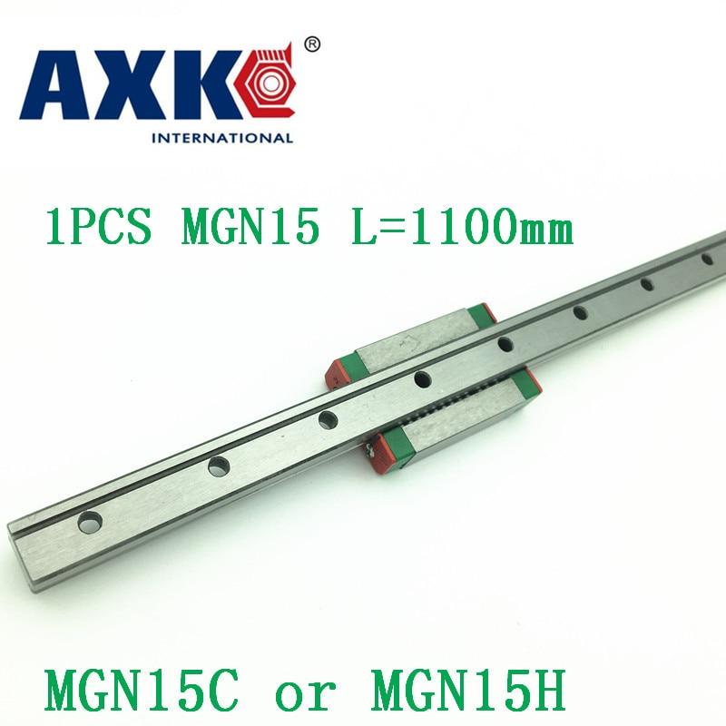 15mm Guide linéaire Mgn15 L = 1100mm chemin de Rail linéaire + Mgn15c ou Mgn15h Long chariot linéaire pour CNC X Y axe Z