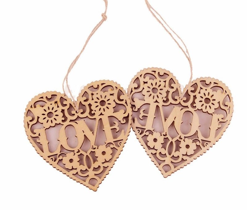 2017 decorative crafts love letter wood crafts wooden for Wooden hearts for crafts
