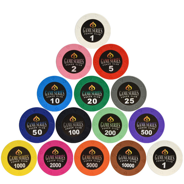 Colored Clay Poker Chips Set