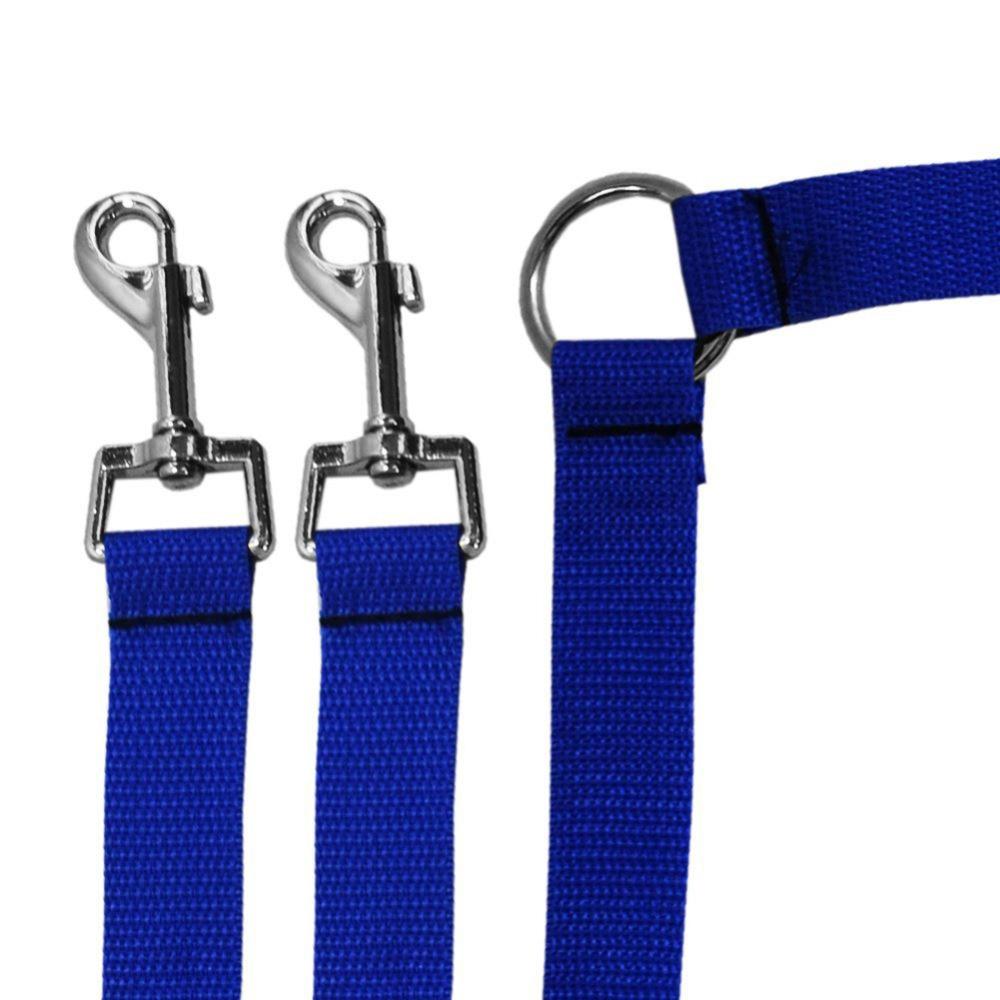 New Strong Nylon Double Dual Coupler Pet Dog Guinzaglio 2 Way Pets - Prodotti per animali domestici - Fotografia 4