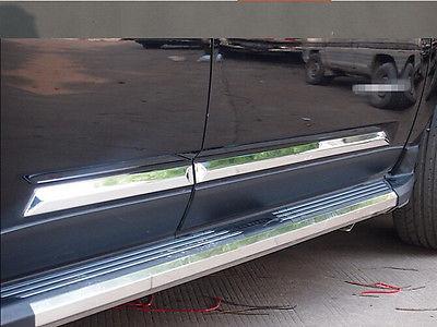 ABS Chrome Side Door Body Molding Cover Trim 4pcs for JEEP COMPASS 2011-2015 abs chrome body side door trim molding exterior cover for hyundai santa fe ix45 2013 2015 door side molding trim side door trim