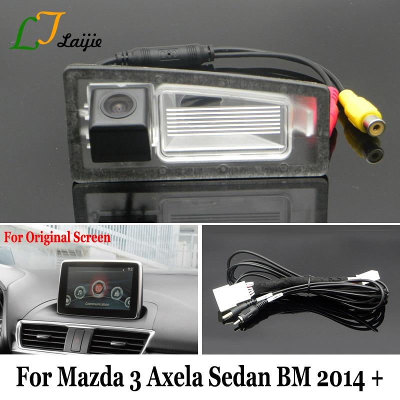 Liislee for mazda 3 mazda3 bm hatchback 20142017 rca original laijie backup camera with adapter cable for mazda 3 mazda3 axela sedan bm 20142017 asfbconference2016 Choice Image