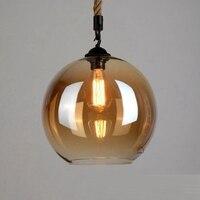 LukLoy Vintage Glass Rope Lamp Pendant Ceiling Lamps Loft for The Kitchen Led Pendant Lights Loft Hanglamp Hanging Light Fixture
