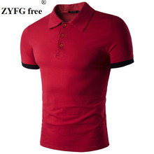 Men's Polos HOT SELL 2017 New Fashion Brand Men Clothes Solid Color short Sleeve Slim Fit PoloShirts Men CottonPolosShirt Casual