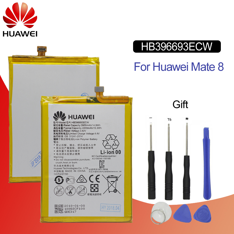 Hua Wei Original Phone Battery HB396693ECW For Huawei Mate 8 NXT AL10 NXT TL00 NXT CL00 NXT DL00 3900mah