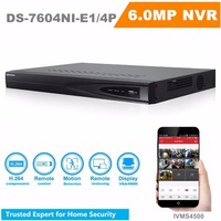 V3 3 4 English Version NVR DS 7604NI E1 4P 4CH POE NVR Independent Embedded NVR