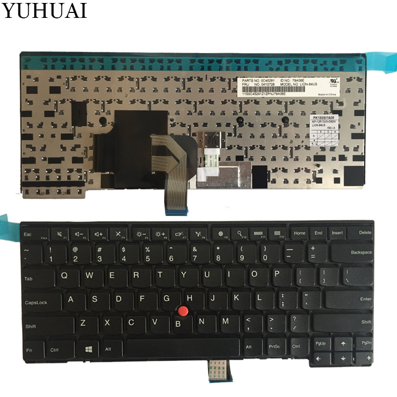 New US Laptop keyboard For Thinkpad T440 T440S T431S T440P T450 T450S T460 Black keyboard new 14hd laptop lcd screen 30pin original for lenovo thinkpad t440 t440p t440s t431s led display 1600 900 04y1584 n140fge ea2