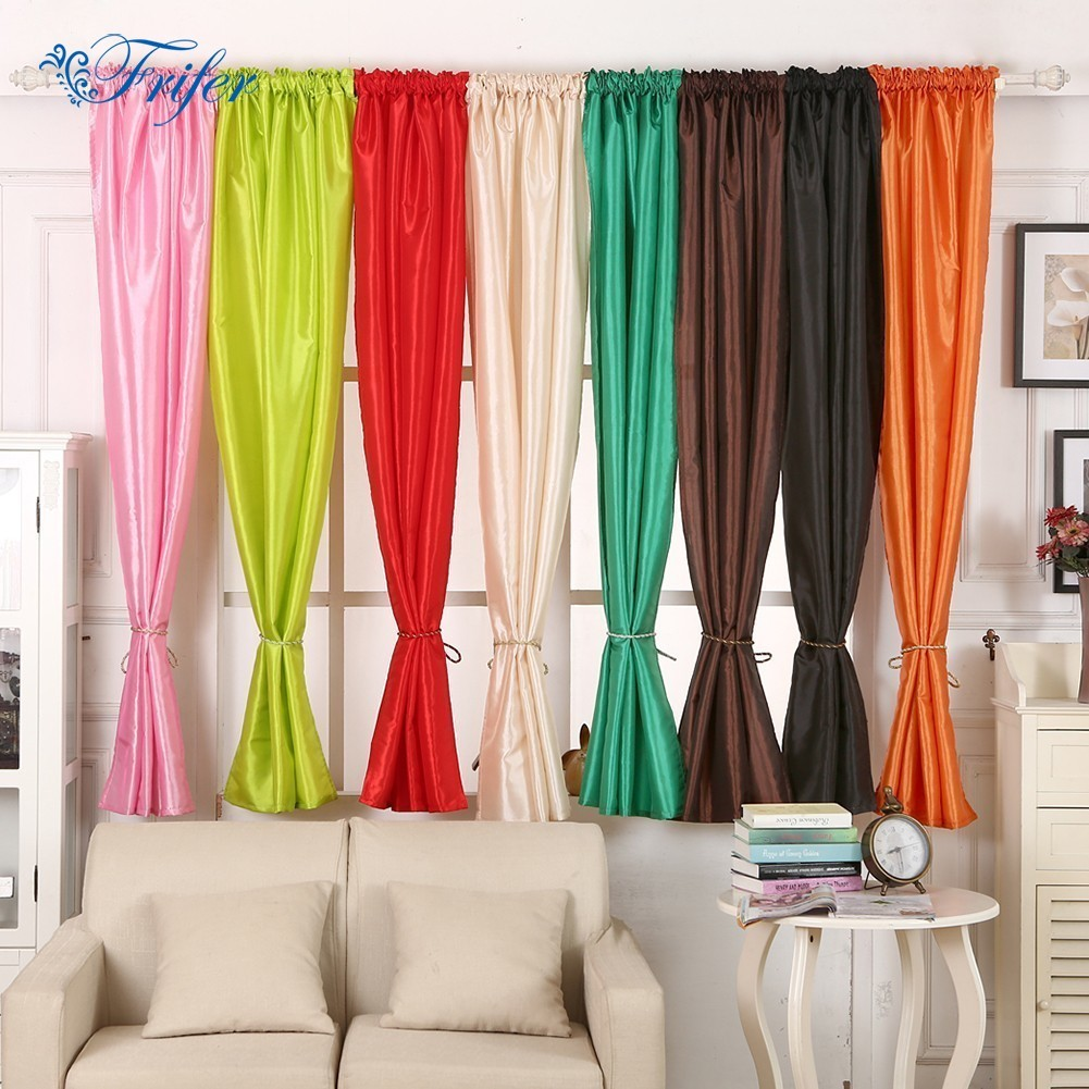 Silk Cloth Wedding Curtains Window Blinds Curtains Drape