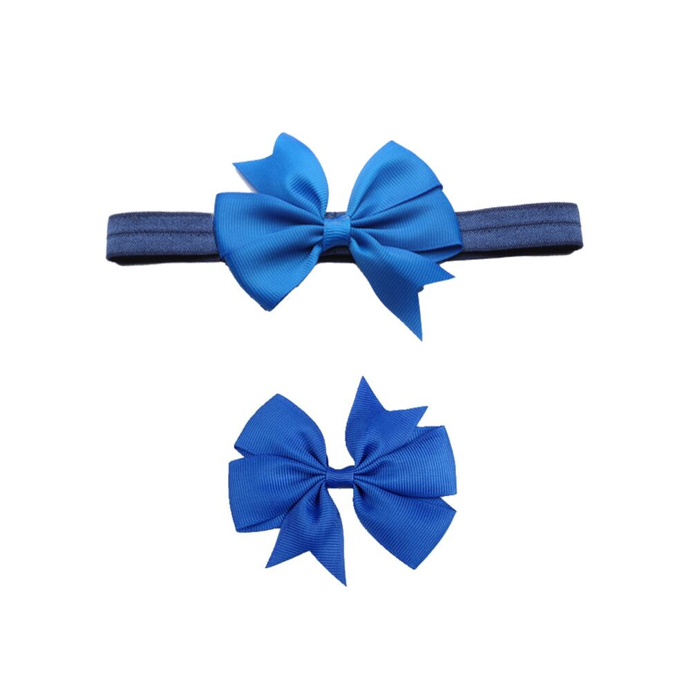 New children 39 s hair band hair clip set Cute creative handmade baby headwear Solid color bow hair accessories in Hair Accessories from Mother amp Kids