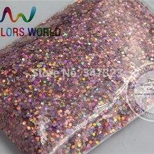 1,5 мм лазерные темно-розовые цветные блестки пайетки, голографические цветные блестки для дизайна ногтей или другие DIY decora
