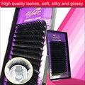 4 Eye Lashes Faux Cils False Mink Eyelashes Natural Fake Eyelash Extension Individual Cilios Posticos Silk Lash Black Glossy Kit