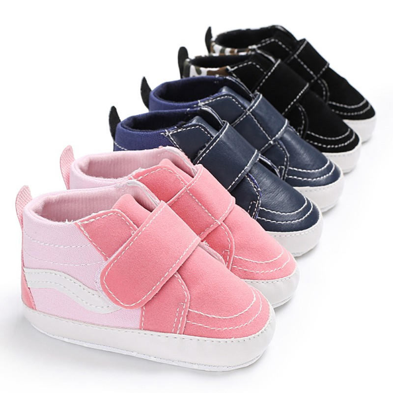 2018 Summer Baby Shoes Casual PU Matte Canvas Mosaic Baby Soft Bottom Toddler Shoes New Arrival Fashion Infant Baby Shoes