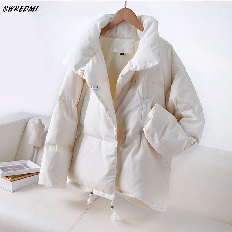 SWREDMI 2019 Autumn Winter Women   Parka   Fashion Women Jacket Winter Coat Female Stand Down Jacket Warm Casual Plus Size Coats