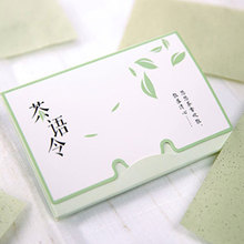 100sheets/pack Tissue Papers Absorb Blotting Facial Cleanser Face Tool Green Tea Smell Makeup Cleansing Oil Absorbing Face Paper