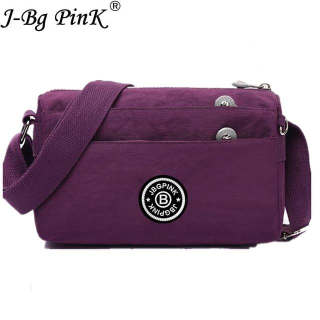 J Bg Pink Women Messenger Bags Crossbody Bag Nylon Female Shoulder Designer Handbags High