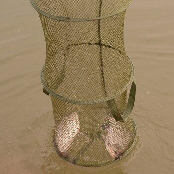 Best 1 Pcs Fishing Accessories Fishing Basket Dip Net Portable Folding Fishing Accessories cb5feb1b7314637725a2e7: small holes