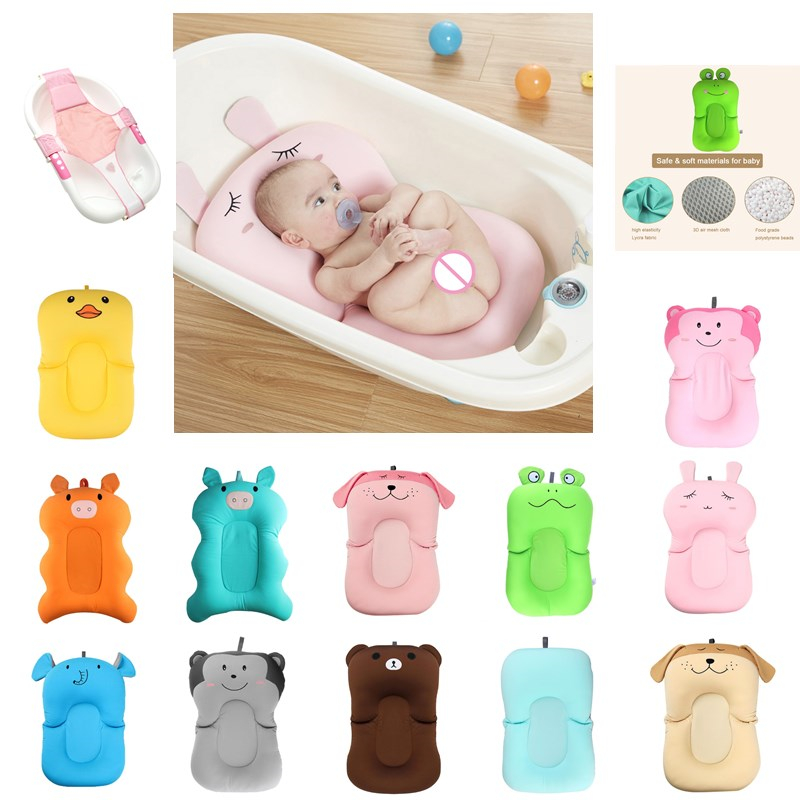 Newborn Bath Mat Non-Slip Bathtub Floating Pad Baby Bath Seat Cushion Bed Baby Shower Portable Air Cushion Bathtub Pad Seat