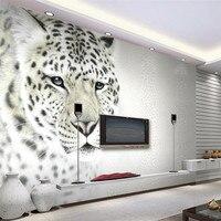 3d Wallpaper Mural Art Decor Picture Backdrop Modern Art Black And White Leopard Leopard Restaurant Wall