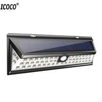 ICOCO 54 LED Solar Lamp Outdoor Sensor Waterproof PIR Human Body Motion Sensor Dimmable Garden Emergency