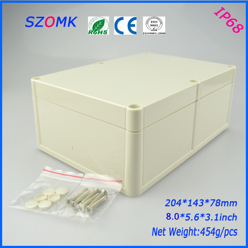 electronic enclosure project box (1 pcs) 204*143*78mm plastic waterproof enclosure Instrument box electronical junction box блок питания chieftec cps 500s 500w