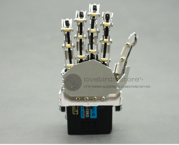 LB DIY Bionic mini humanoid robot hand QDS-15RO servo unassembled Five fingers linkage for DIY humanoid robot model / robot arm 2018 lerot 6dof mechnical robot arm with digital servo and controller for diy unassembled