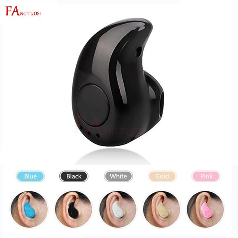 FANGTUOSI S530 Mini Wireless Bluetooth Earphone In Ear Sports With Mic Earbuds Handsfree Headset Earphones Earpiece For IPhone 7