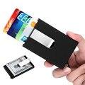 Hombres de Negocios Titular de la Tarjeta de Bloqueo de Tarjetas de Crédito RFID Holder Carpeta Automática Pop-up Tarjeta de IDENTIFICACIÓN Caso de la Cubierta con Clip