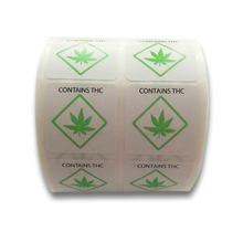2019 New Trend 1000 PCs/roll Warning Stickers Adhesive Labels Cannabis Label Square Paper for and Indication