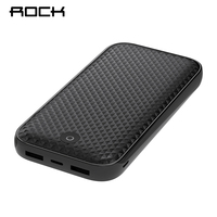 ROCK Power Bank 20000mah Fast Charger Portable External Battery Pack Batteries Powerbank for Samsung Xiaomi Smart Phone