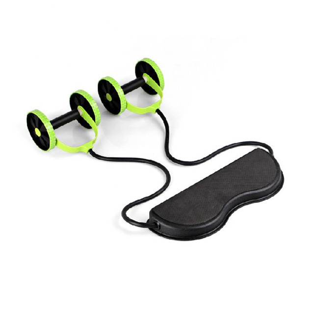 Abdominal Waist Slimming Trainer Exerciser Roller Core Double AB Wheel Fitness Equipment 1