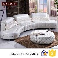 S893 sehpalar maç beyaz elmas deri kanepe koltuk takımı, çoğaltma mobilya