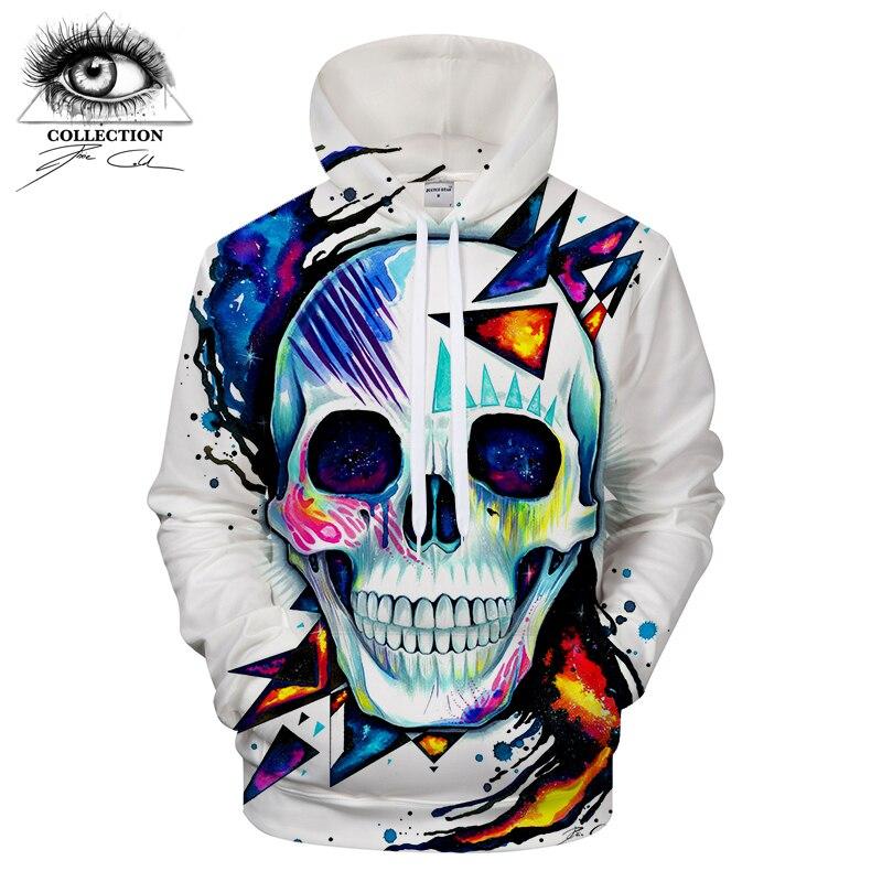 Skull by Pixie cold Art Men Women Hoodies 3D Prints Sweatshirts Hoodie Brand 2018 Pullover Men Clothing Drop Ship ZOOTOP BEAR