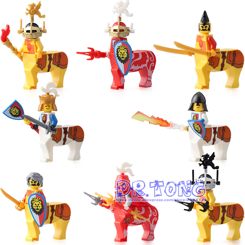 Building Blocks Centaur Medieval Castle Armor Knight with Weapons Figures block Bricks Children Toys 8803