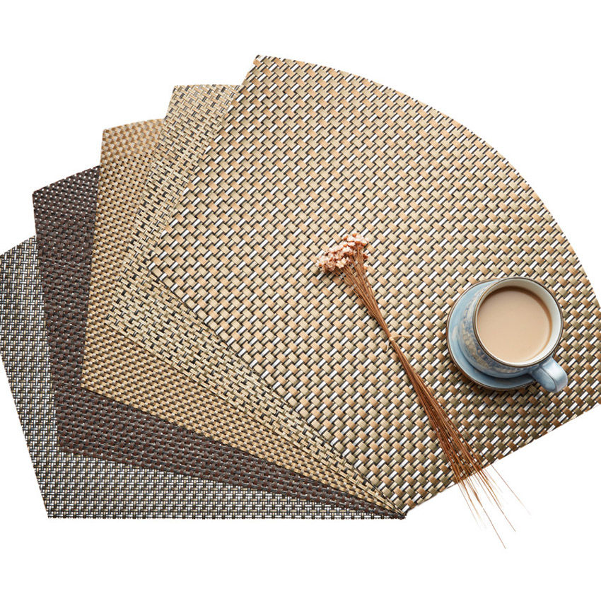 Fan Shaped Dining Table Mat Sector Placemats 45x30cm Pvc