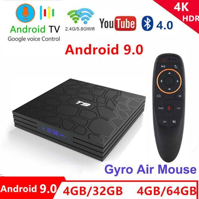 T9 טלוויזיה תיבת אנדרואיד 9.0 4 GB 64 GB RK3328 Quad-Core 4 K HD Wifi BT4.0 USB3.0 חכם טלוויזיה תיבת 4 K Google לשחק חנות נטפליקס Youtube תיבת טלוויזיה