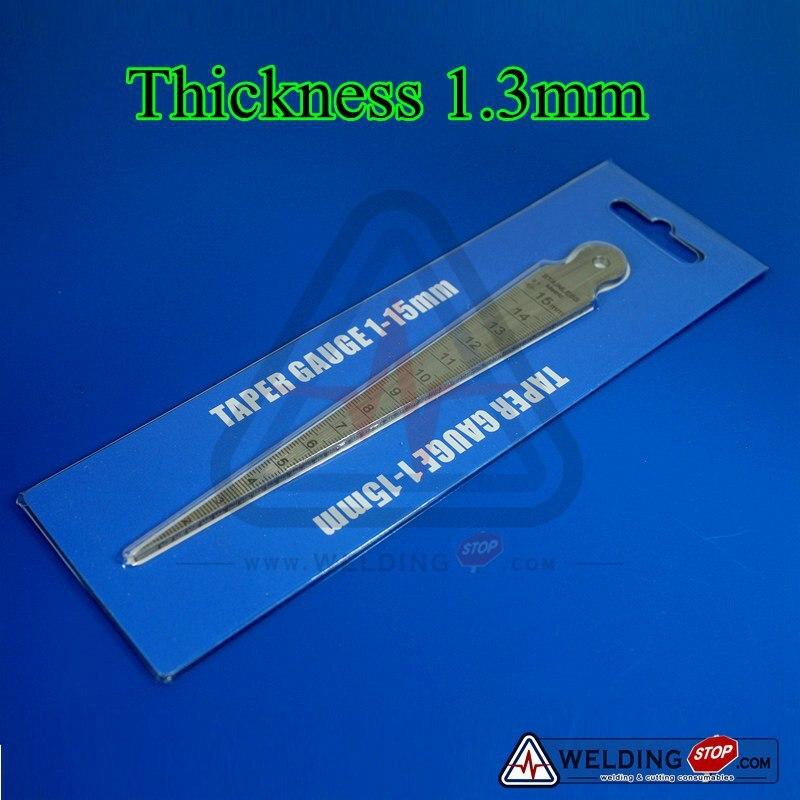 Welding Taper Gauge slot width gap hole size gage 0-15 mm