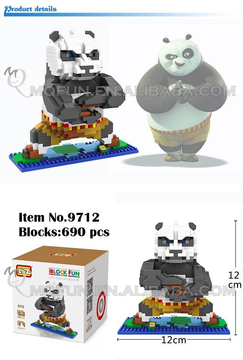 8 unids lote mini qute omcyw Loz 2016 Nuevo llega Kung Fu Panda po ... 9f998b6b1f72