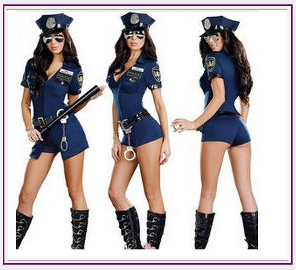 b09dec22bb3e 2019 Sexy Police Women Costume Cop Outfits Adult Woman Policemen Cosplay  Policewoman Romper Fancy Dress Halloween