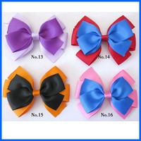 500 BLESSING Good Girl Boutique 4.5 Double Bowknot Hair Bow Clip Accessories